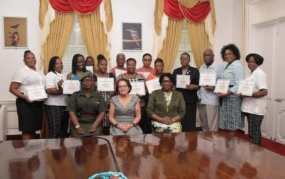 Sixteen State House, other staff complete Grade Two Chef's Course