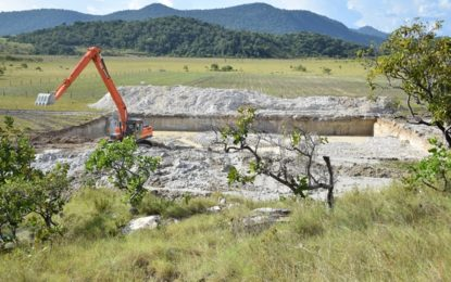 Aranaputa's water harvesting project on stream