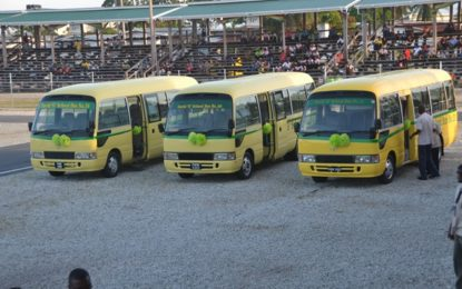 'There is no better investment in this world than investment in children'  -President Granger says as three new school buses are commissioned