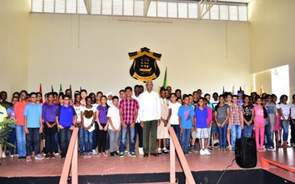 Let your conduct, character and respect for people help to mould a better Guyana  -President Granger tells incoming QC students