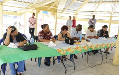 Minister Ally discusses SLED project with Region 2 beneficiaries
