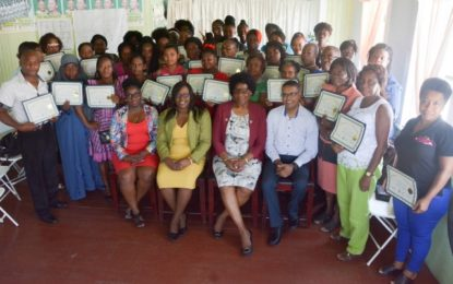 Minister Cummings charges 40 Self Reliance graduates to become trailblazers in business