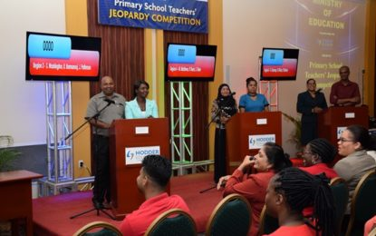 Second Annual Jeopardy competition launched- Teachers lead by example