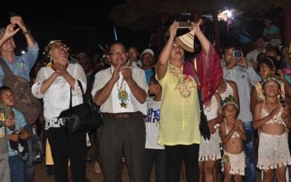 Minister Garrido Lowe attends Region 9 Heritage Celebrations.