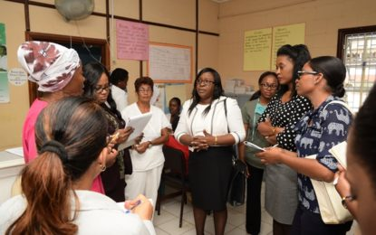 Min. Cummings conducts assessment of MoPH healthcare facilities