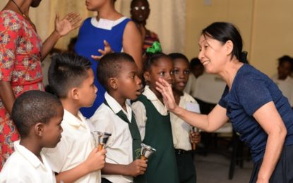 Japanese music instructor completes volunteer programme