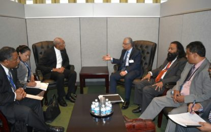 President Granger meets with Mauritius Prime Minister  -on sidelines of UNGA in New York