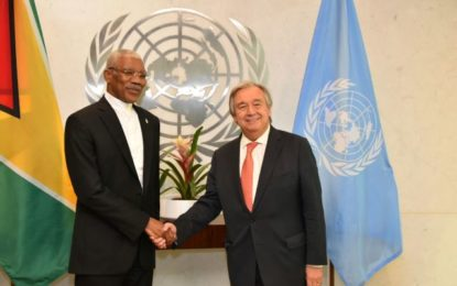 Guyana looks forward to successful resolution of controversy with Venezuela, will remain committed to UN process