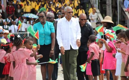 Hundreds Rally for the Education Cause on Education Day – Every Child Matters, Education clearly an area where money makes a difference- Minister Henry