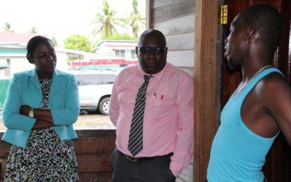 Minister of Education Visit to Family of Glensean Skeete
