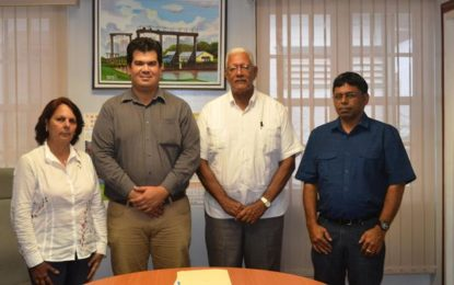 ALIMPORT pay courtesy call to Agri Minister  as Guyana commences rice shipment to Cuba