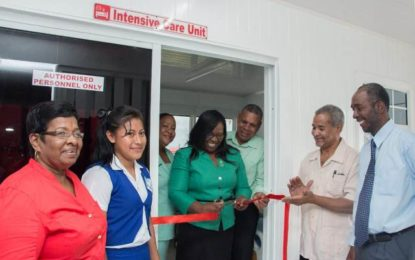 Bartica Regional Hospital ICU commissioned  – Region working to modernize healthcare
