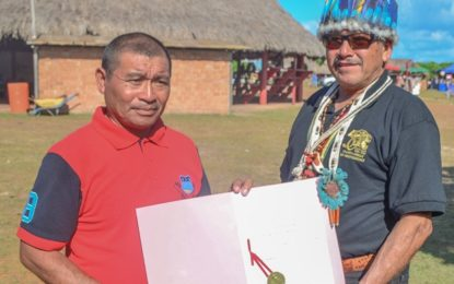 Rupanau receives its land title document
