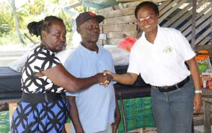 Social Protection donates to Berbice fire victims