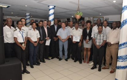 Consistent trainings will help to create a safer aviation sector – Minister Harmon tells JAGS Pilots at closing of training ceremony