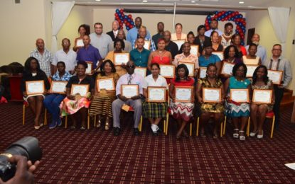 Students, long service employees awarded by Min of Agriculture