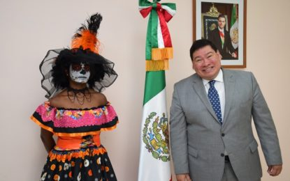 Mexican Embassy educates school children on Day of the Dead celebrations