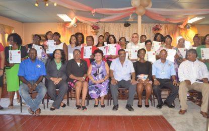 Twenty daycare centres in Berbice licensed