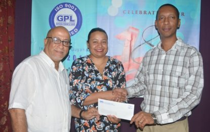 GPL donates $400,000 to Cancer Institute