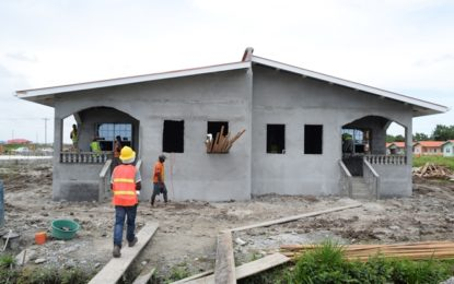 Construction of Govt housing units progressing smoothly – Set for December completion