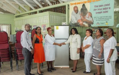Remarks at the handing over ceremony of a refrigerator and 50 chairs at the Dorothy Bailey Health Centre