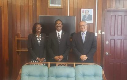 COURTESY CALL BY HIS EXCELLENCY ANTOINE JOLY, NON-RESIDENT AMBASSADOR OF THE FRENCH REPUBLIC TO GUYANA