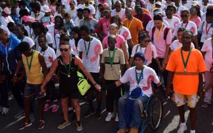 Annual breast cancer awareness walk attracts thousands