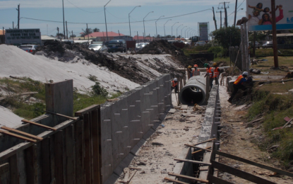 Works progressing on East Coast road widening project