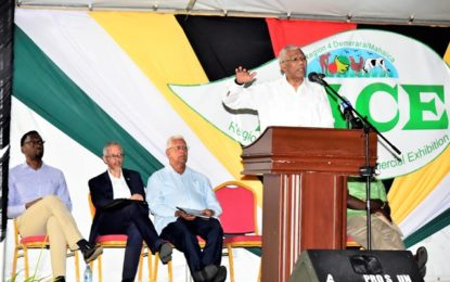 President Granger commissions two school buses for Region Four – says education, agriculture will transform regional development at RACE Exhibition