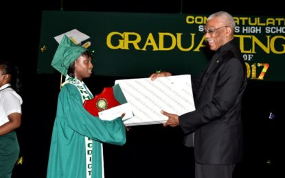 'Serve your country'  -President Granger tells St. Rose's High School's Class of 2017