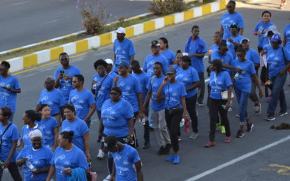Health walk and fair hosted to promote diabetes awareness