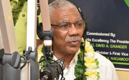 """Everyone in Guyana must have access to public information"" – President David Granger at commission of Radio Bartica"