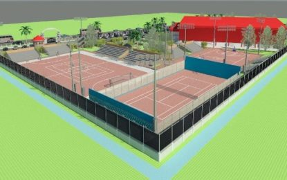 State-of-the-art multipurpose courts taking shape – will facilitate lawn tennis, futsal, basketball, volleyball, etc.