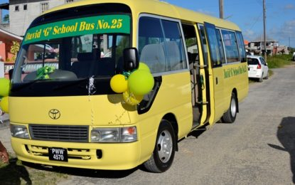 President David Granger's 5Bs on the move – Essequibo, Parafait Harmony receive buses