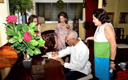 President and First Lady spread Christmas cheer at Dharm Shala, maternity ward