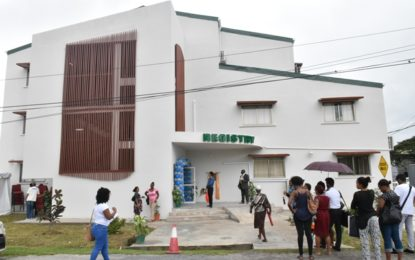 University of Guyana commissions new registry building