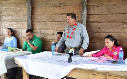 Govt has responsibility to work closely with hinterland residents -Minister Allicock