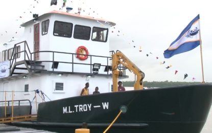 The ML Troy W prison vessel officially launched