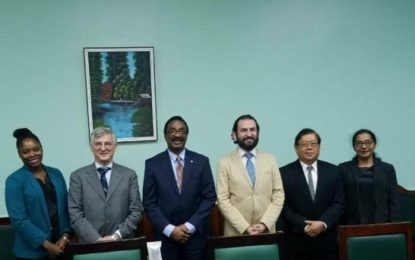 Representatives from the International Narcotics Control Board meet with Attorney General and Minister of Legal Affairs