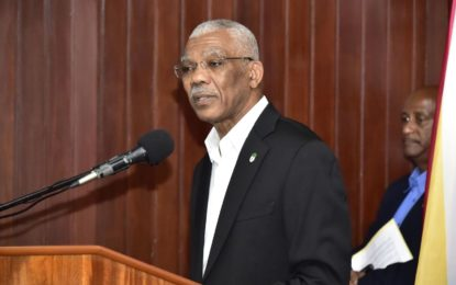 President David Granger recommits to free and fair elections