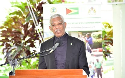 Guyana committed to preserving land assets, promoting more efficient mining, logging practices  -President Granger says at signing of US$15M sustainable land development project