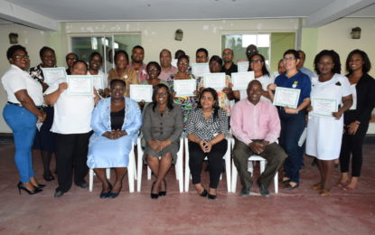 Guysuco's medical personnel, social workers complete mental health training
