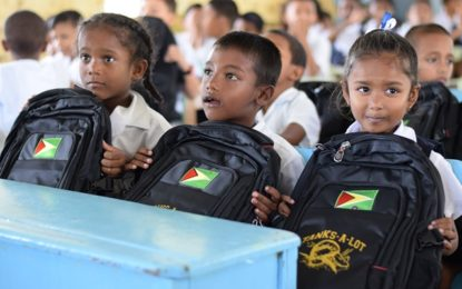 Exxon's service provider donates school supplies to Lusignan Primary