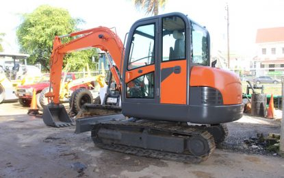 Port Kaituma's excavator refurbished – to boost infrastructure in the region