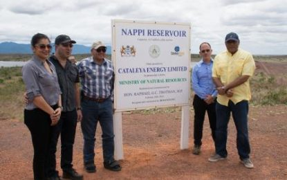 Nappi reservoir handed over to region