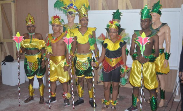 Social Cohesion Ministry's costume band features national colours, symbols