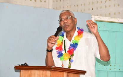 Education, infrastructure and citizenship services to be improved in Whitewater  -President David Granger