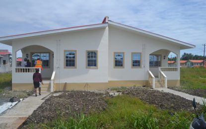 CH&PA working closely with prospected beneficiaries – 33 flat duplexes near completion