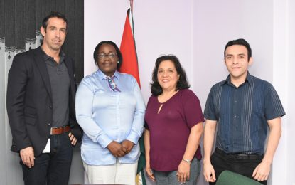 Halliburton team pays courtesy call on Minister Broomes