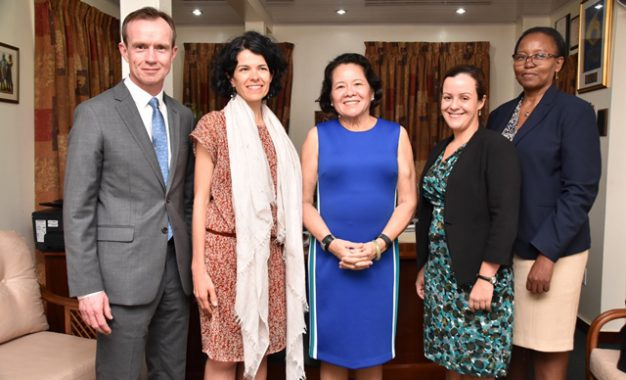 First Lady receives courtesy call from PANCAP representatives